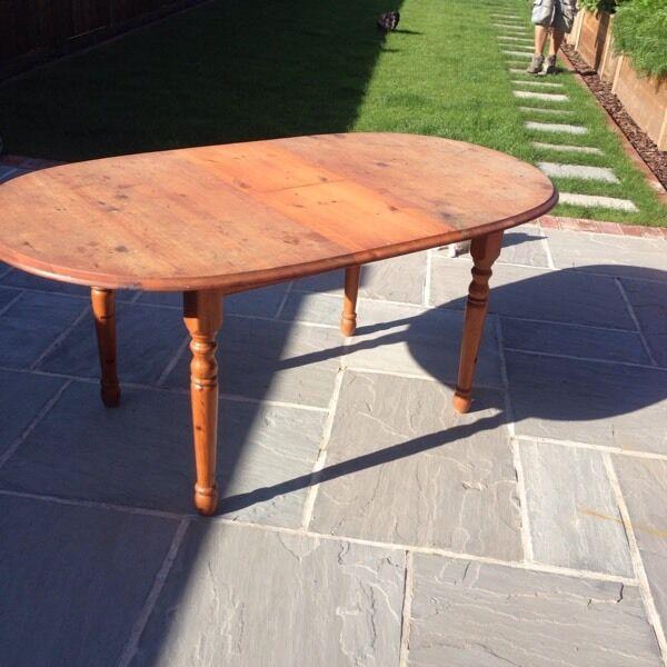 Pine Table Extending In Wimborne Dorset Gumtree