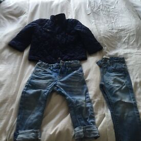Ralph jkt and 2 pairs of jeans