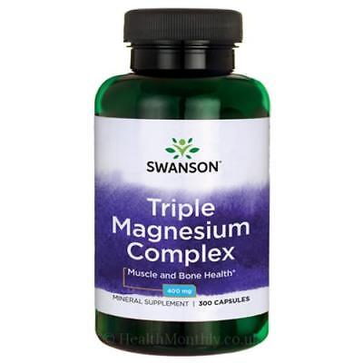Komplex 300 Kapseln (Swanson Dreifach Magnesium Komplex 400mg Wähle von 100 Or 300 Kapseln)