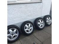 Mini set of 4 alloy wheels