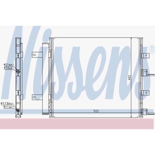 Kondensator Klimaanlage - Nissens 940117