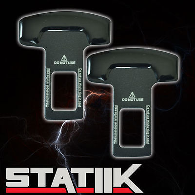 Seat Belt Metal Buckle - BLACK SEAT BELT BUCKLE SAFETY INSERT ALARM STOPPER NULL ELIMINATOR METAL B