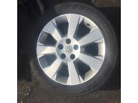 VAUXHALL ALLOYS AND TYRES X 2 1X4MM 1X7MM 5 STUD VECTRA ASTRA ZAFIRA SPARE 17""
