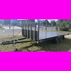 16x8 table top tandem trailer flat top local made 2800kg ATM 2 South Windsor Hawkesbury Area Preview
