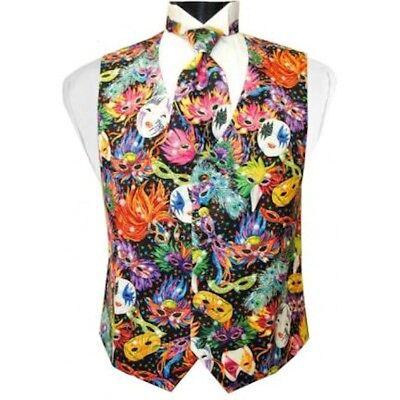 Bal Masque Mardi Gras Tuxedo Vest and Tie - Mardi Gras Tuxedo Vest