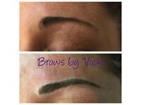 Brows by Vicki (microblading) semi permanent makeup, natural feather like strokes