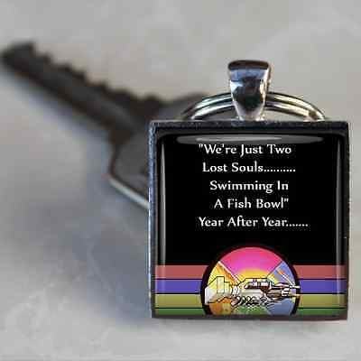 Pink Floyd Keyring Lyrics Wish you were here Silver plated handmade keyring Rock
