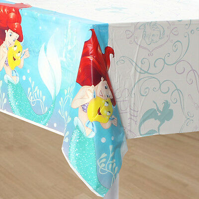 Little Mermaid Ariel 1X Plastic Table Cover Birthday Party Supplies - Ariel Birthday Party
