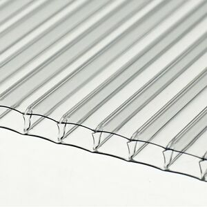 10 SHEETS OF GREENHOUSE POLYCARB 1220x610x4mm (4ftx2ft) TWINWALL POLYCARBONATE