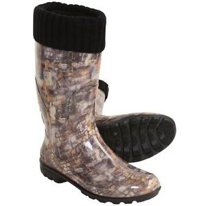 Kamik Kelly Fleece-Lined Rain Boots & Boot slipper Zebra
