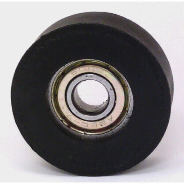 """8mm Bore Bearing with 1 1/4"""" inch Black Tire 8x1 1/4""""x 1/2"""""""
