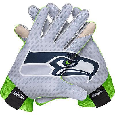 Seattle Seahawks Nike Stadium Football Gloves Fan Green Blue M L Xl Xxl 2015