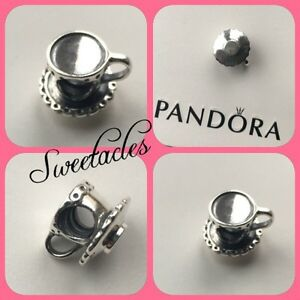 BRAND NEW PANDORA TEA CUP CHARM WITH Pandora Packaging FREE P&P