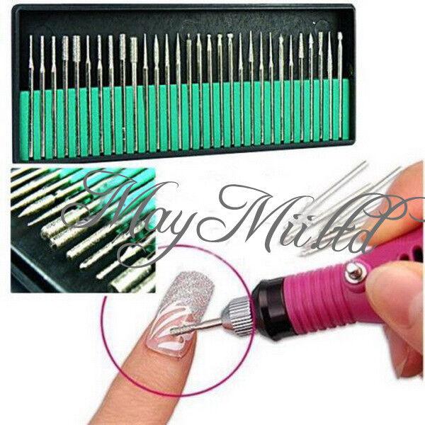 30pcs Nail File Art Drill Bit Machine Manicure Craft Needle ...