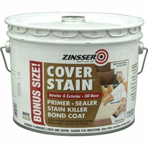 Cover Stain 3 gal. White Oil-Based Interior/Exterior Primer and Sealer by Zinsse