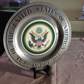 Pewter plate, the great seal