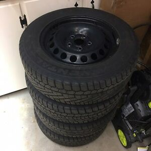 Continental Extreme Winter Contact Tires on Genuine VW Rims Kitchener / Waterloo Kitchener Area image 1