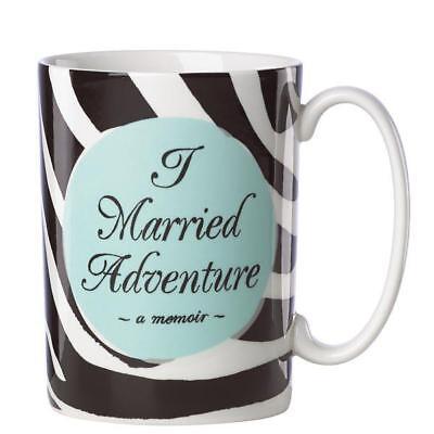 LENOX ~ KATE SPADE A Way With Words ~ I MARRIED ADVENTURE MUG ~ wedding   NIB