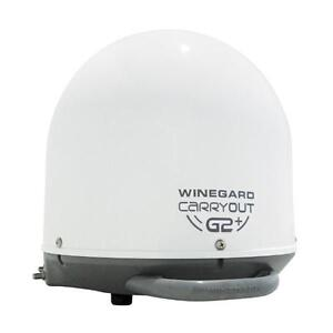 Winegard GM-6000 Carryout G2+ Automatic Portable Satellite TV Antenna with Power Inserter (Portable Satellite for DIRECT