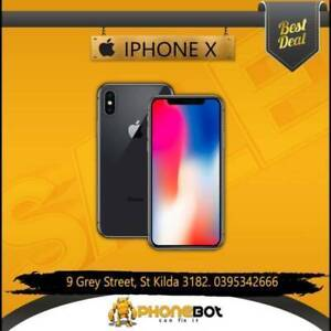 iPhone X 64 GB Very Good Condition Silver only @PhoneBot St Kilda Port Phillip Preview