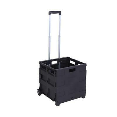 Portable 2 Wheels Rolling Utility Cart Folding Collapsible Handcart 80lb Us