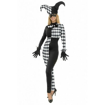 Diamond Jester Medieval Court Clown Fancy Dress Up Halloween Sexy Adult Costume](Halloween Costumes Court Jester)