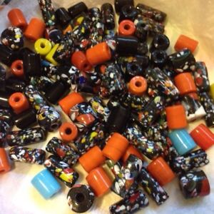 99 large glass beads