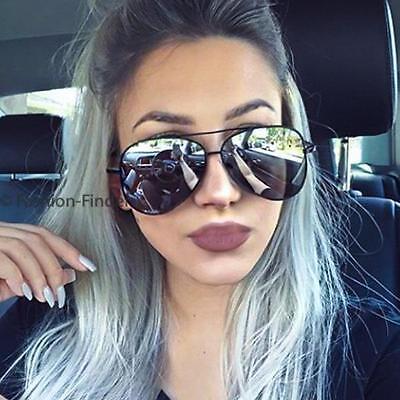 Large Sexy ROCK CHICK Metal BLACK Rim Mirror Lens Flash Big Women Sunglasses (Cheap Big Sunglasses)