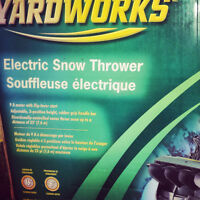BRAND NEW ELECTRIC SNOWBLOWER FOR SALE- NEVER USED-IN BOX!!