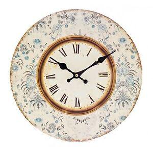 heaven sends vintage blue floral wall clock shabby kitchen