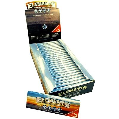 ELEMENTS PAPER ULTRA THIN RICE Rolling Papers 1 1/4 SIZE Full Box 25 Packs 1.25 on Rummage
