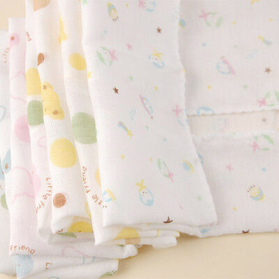 4PCS Baby New Born Gauze Muslin Square Cotton Bath Wash cloths bibs Towel 28*28 for sale  Shipping to United States
