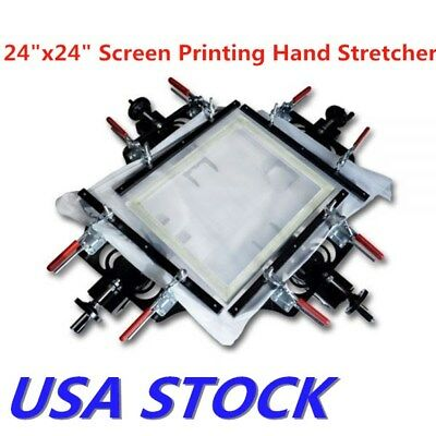 Us Stock 24 X 24 Screen Printing Hand Stretching Tools Fabric Mesh Stretcher