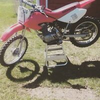 Crf 100 honda with after market parts