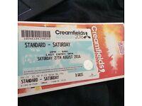Saturday Creamfields Ticket