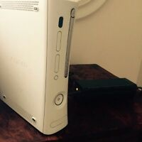 Xbox 360, no hard drive only power cord (broken(