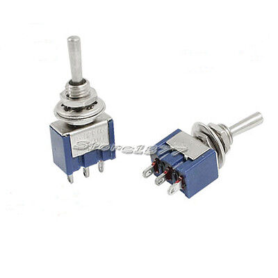 5pcs Mini Toggle Switch Spdt On-off-on Two Position Blue Mts-103 S679