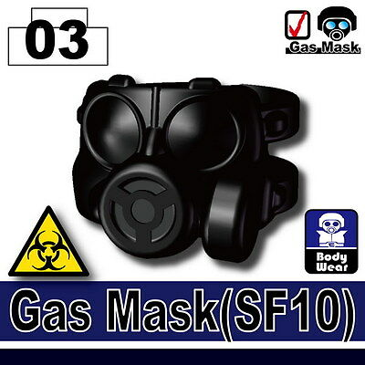 SF10 (W186) Army Gas Mask compatible with toy brick minifigures - Toy Gas Mask