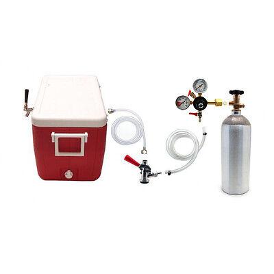 (Single Faucet Coil Cooler Complete Kit - Draft Beer Dispensing Picnic Jockey Box)