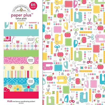 (Scrapbooking Crafts Doodlebug 12X12 Paper Pack Plus Varies Girl Theme)