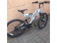 "Dunlop Dual Suspension 24"" Wheels, 16"" Frame Mountain Bike"