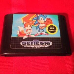 Sonic The Hedgehog 2 Sega Genesis jeux 18$ Shipping inclus