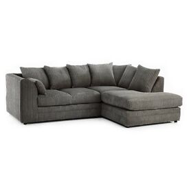 Chicago corner sofa left or right hand available in grey white black brown can deliver