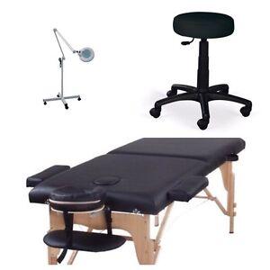 Ensemble table de massage cils et +++