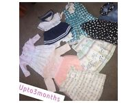Baby girl clothes 0-3months.