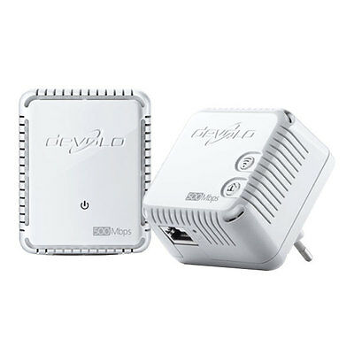 Devolo dLAN 500 Wlan WiFi Starter Set 500 Mbit/s WLAN Repeater Powerline LAN