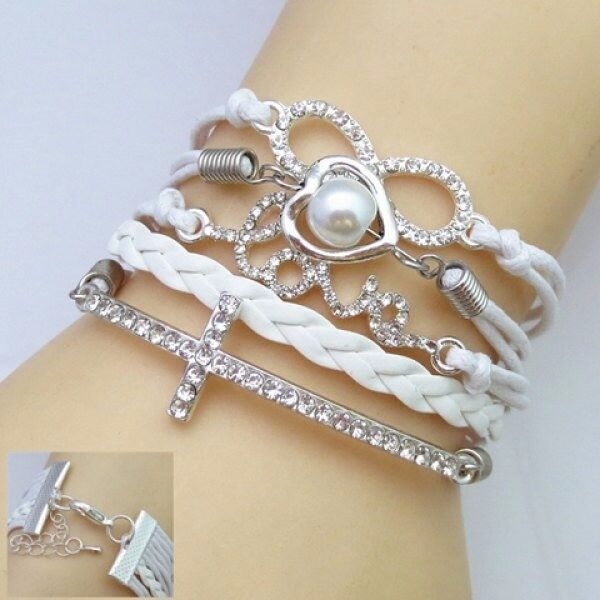 Rhinestone Decorated Multi-Layered Friendship Bracelet