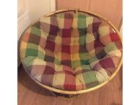 Pier Cushion & Chair Frame - multi coloured cushion. (new cost £200). Hardly used .
