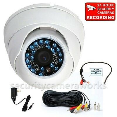 CCD Dome IR Security Camera Outdoor Night Vision Wide Angle with Audio Mic BQY