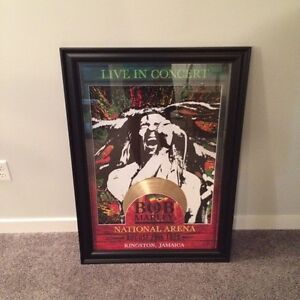 Bob Marley commemorative framed poster